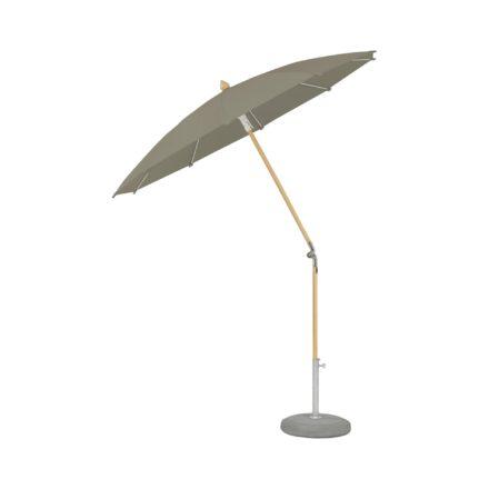 """Sonnenschirm """"ALEXO®"""", rund, ohne Volant, von GLATZ, Dessin 461 - Taupe (© by GLATZ AG, Schweiz)"""