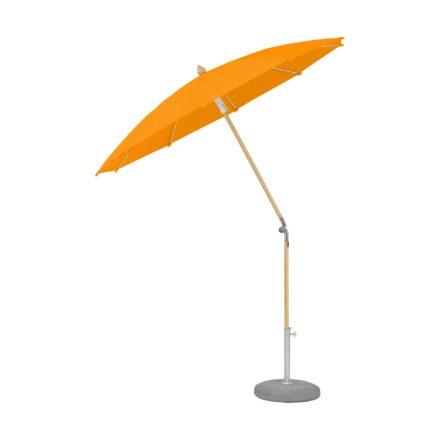 """Sonnenschirm """"ALEXO® """", rund, ohne Volant, von GLATZ, Dessin 512 - Mandarin (© by GLATZ AG, Schweiz)"""