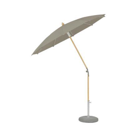 """Sonnenschirm """"ALEXO® """", rund, ohne Volant, von GLATZ, Dessin 611 - Sandstone (© by GLATZ AG, Schweiz)"""