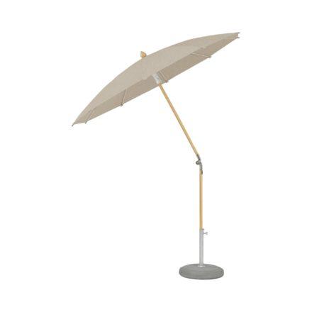 """Sonnenschirm """"ALEXO® """", rund, ohne Volant, von GLATZ, Dessin 650 - Camel (© by GLATZ AG, Schweiz)"""