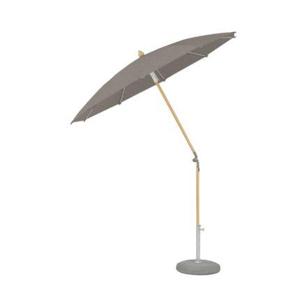 """Sonnenschirm """"ALEXO® """", rund, ohne Volant, von GLATZ, Dessin 651 - Maroon (© by GLATZ AG, Schweiz)"""