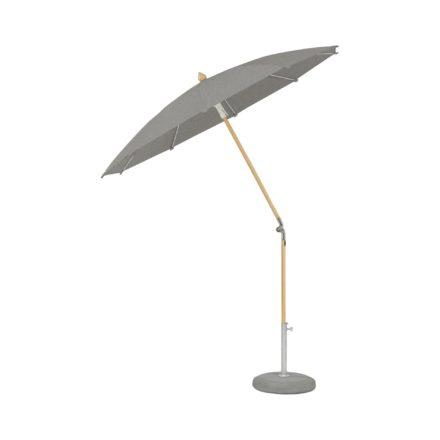 """Sonnenschirm """"ALEXO® """", rund, ohne Volant, von GLATZ, Dessin 667 - Platinum-Melange (© by GLATZ AG, Schweiz)"""