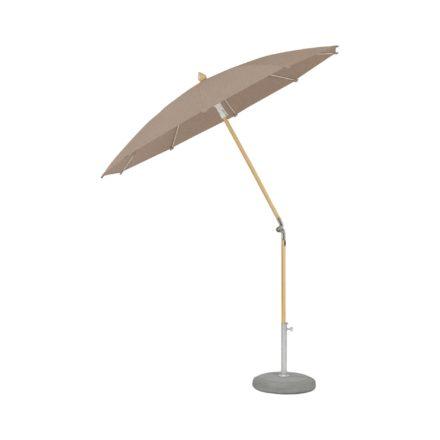 """Sonnenschirm """"ALEXO® """", rund, ohne Volant, von GLATZ, Dessin 675 - Nut-Melange (© by GLATZ AG, Schweiz)"""