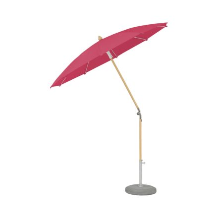 """Sonnenschirm """"ALEXO® """", rund, ohne Volant, von GLATZ, Dessin 681 - Pink (© by GLATZ AG, Schweiz)"""
