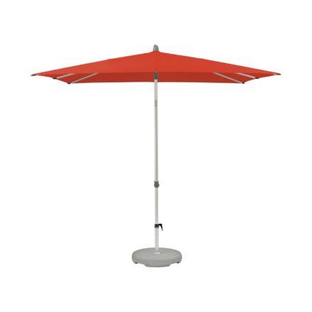 """Sonnenschirm """"Alu-Smart"""", quadratisch, von GLATZ, Dessin 516 - Fire Red (© by GLATZ AG, Schweiz)"""
