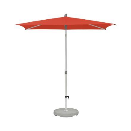 """Sonnenschirm """"Alu-Smart"""", rechteckig, von GLATZ, Dessin 516 - Fire Red (© by GLATZ AG, Schweiz)"""