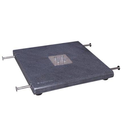 """Sonnenschirm """"Pendular"""", Granitsockel, 140 kg, mit 4 ausziehbaren Handgriffen und 4 Verstellfüßen, von Knirps"""