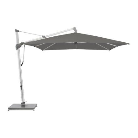 """Sonnenschirm """"SOMBRANO® S+"""", rechteckig, von GLATZ, Gestell natureloxiert, Dessin 692 - Umbra (© by GLATZ AG, Schweiz)"""