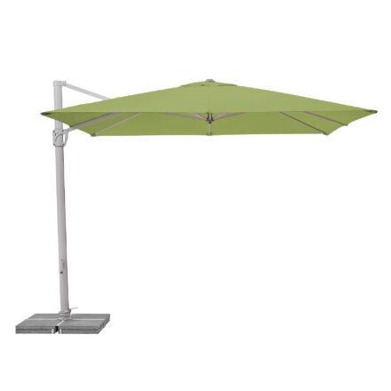 """Sonnenschirm """"Sunflex"""" von SUNCOMFORT® by GLATZ, eckig, 300 cm x 300 cm, Dessin 027 - Kiwi"""