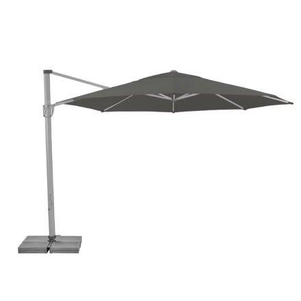 """Sonnenschirm """"Sunflex"""" von SUNCOMFORT® by GLATZ, Rund, Durchmesser 350 cm, Dessin 057 - Stone-grey"""