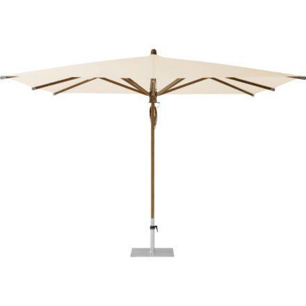 """Sonnenschirm """"TEAKWOOD """", quadratisch, von GLATZ, Dessin 523 - Champagne (© by GLATZ AG, Schweiz)"""