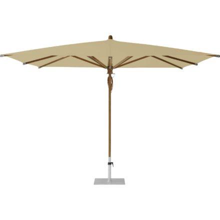 """Sonnenschirm """"TEAKWOOD """", quadratisch, von GLATZ, Dessin 526 - Bamboo (© by GLATZ AG, Schweiz)"""