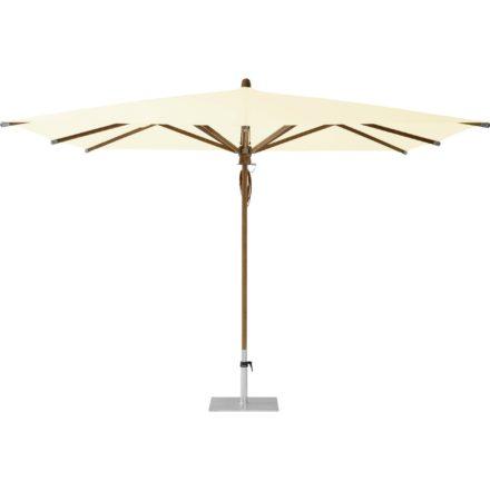 """Sonnenschirm """"TEAKWOOD """", quadratisch, von GLATZ, Dessin 649 - Ivory (© by GLATZ AG, Schweiz)"""