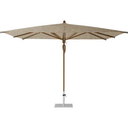 """Sonnenschirm """"TEAKWOOD """", quadratisch, von GLATZ, Dessin 650 - Camel (© by GLATZ AG, Schweiz)"""