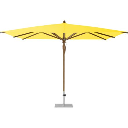 """Sonnenschirm """"TEAKWOOD """", quadratisch, von GLATZ, Dessin 680 - Pineapple (© by GLATZ AG, Schweiz)"""