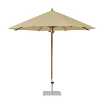 """Sonnenschirm """"TEAKWOOD """", rund, von GLATZ, Dessin 526 - Bamboo (© by GLATZ AG, Schweiz)"""