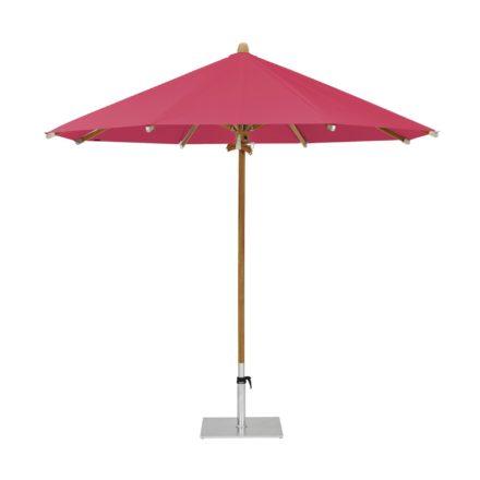 """Sonnenschirm """"TEAKWOOD """", rund, von GLATZ, Dessin 681 - Pink (© by GLATZ AG, Schweiz)"""