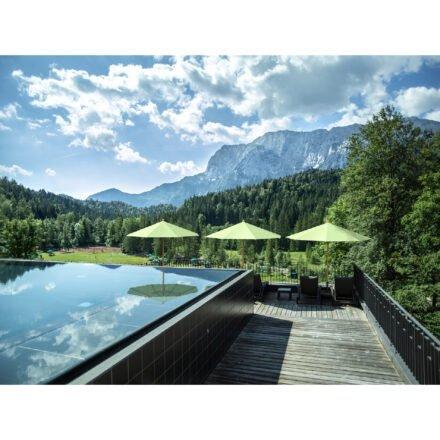 """Sonnenschirm """"TEAKWOOD """" von GLATZ (© by GLATZ AG, Schweiz)"""