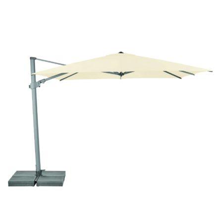 """Sonnenschirm """"Varioflex"""" von SUNCOMFORT® by GLATZ, eckig, 300 cm x 300 cm, Dessin 040 - Ecru"""