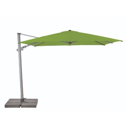 """Sonnenschirm """"Varioflex"""" von SUNCOMFORT® by GLATZ, eckig, 300 cm x 300 cm, Dessin 027 - Kiwi"""