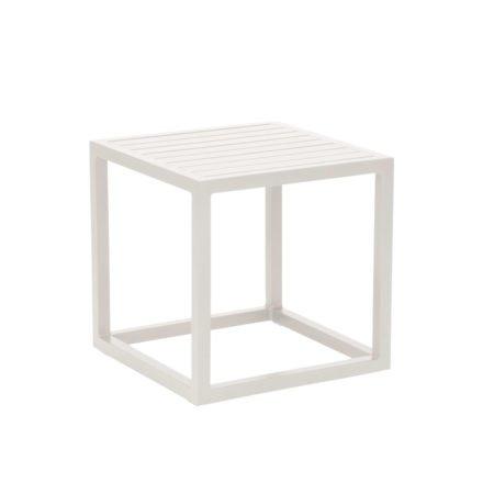 """Stern """"Robin"""" Beistelltisch, Gestell und Tischplatte aus Aluminium weiß"""