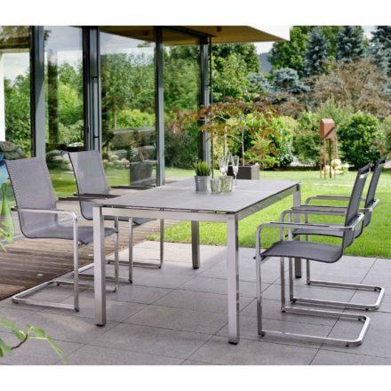 Stern Gartenmöbel-Set mit Freischwinger \