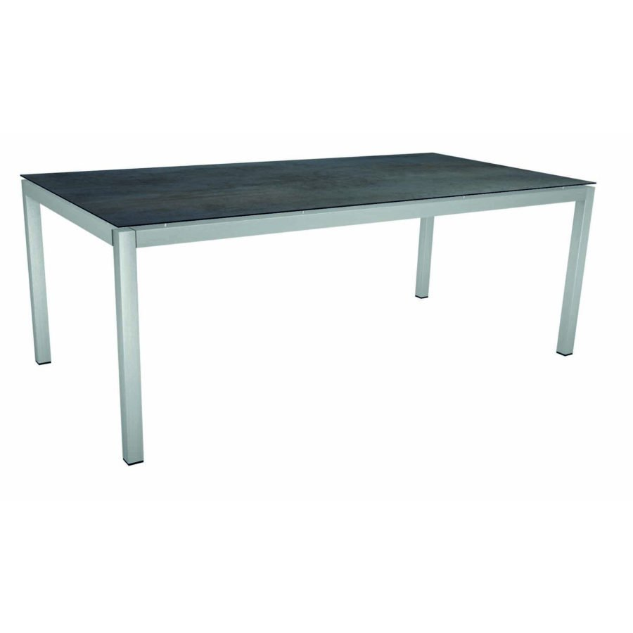 Stern Tischsystem Gartentisch Edelstahl Hpl