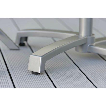Stern Bistrotisch mit Tischgestell Livorno Aluminium graphit
