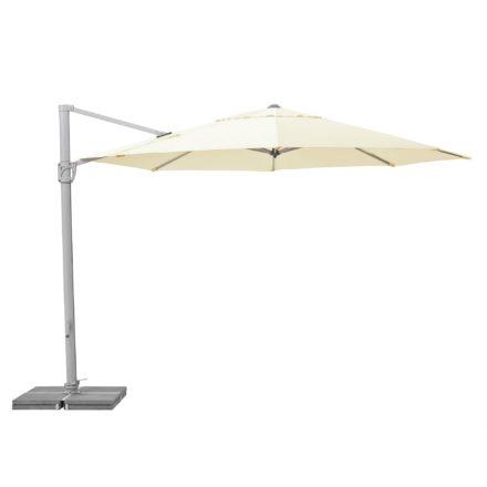 """Sonnenschirm """"Sunflex"""" von SUNCOMFORT® by GLATZ, Rund, Durchmesser 350 cm, Dessin 040 - Ecru"""