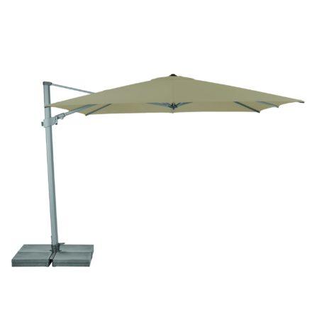 """Sonnenschirm """"Varioflex"""" von SUNCOMFORT® by GLATZ, eckig, 300 cm x 300 cm, Dessin 053 - Offgrey"""