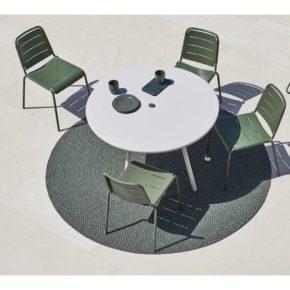 """Cane-line Gartenmöbel-Set mit Stuhl """"Copenhagen"""" und Tisch """"Area"""""""