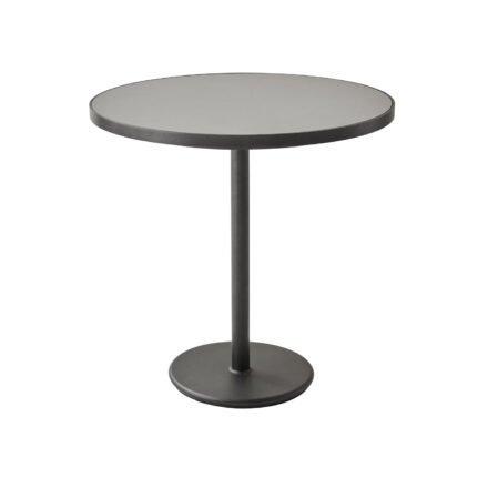 """Cane-line Bistrotisch """"Go"""", Gestell Aluminium lavagrau, Tischplatte Aluminium lavagrau/Keramik hellgrau, ø 75 cm"""