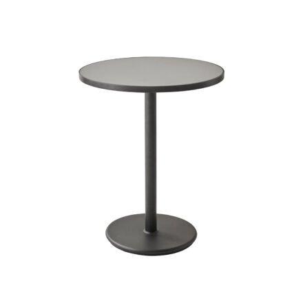 """Cane-line Bistrotisch """"Go"""", Gestell Aluminium lavagrau, Tischplatte Aluminium lavagrau/Keramik hellgrau, ø 60 cm"""