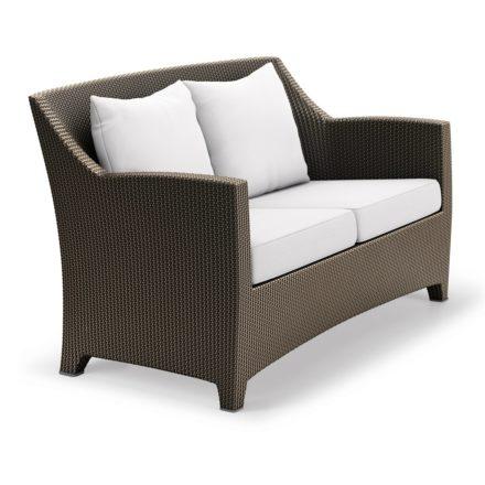 "DEDON 2er Sofa ""BARCELONA"", Aluminiumrahmen, Geflecht DEDON Faser bronze"