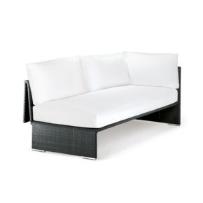 "DEDON Sofa links ""SLIM LINE"", Aluminiumrahmen, DEDON Faser carbon"