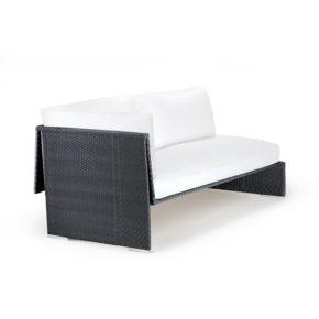 "DEDON Sofa rechts ""SLIM LINE"", Aluminiumrahmen, DEDON Faser carbon"