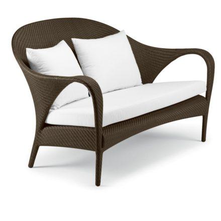 """DEDON 2er-Sofa """"TANGO"""", Gestell Aluminium, Geflecht DEDON Faser bronze"""