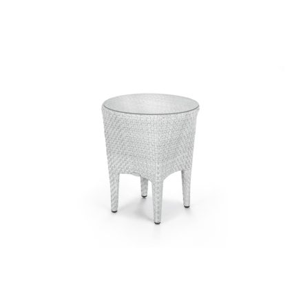 """DEDON Beistelltisch """"TANGO"""", Gestell Aluminium, Geflecht DEDON Faser basalto, Tischplatte Glas"""