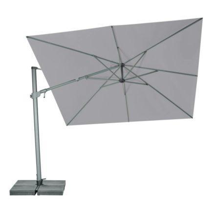 """Sonnenschirm """"Varioflex"""" von SUNCOMFORT® by GLATZ, eckig, 300 cm x 300 cm, Dessin 420-Smoke"""