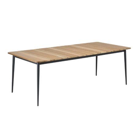 "Niehoff Gartentisch ""Luna"", Gestell Aluminium anthrazit, Tischplatte Teakholz-Lamellen"