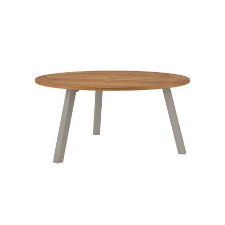 """Royal Botania """"Discus 160"""" Gartentisch, Gestell Aluminium sand, Tischplatte Teak, mit Schirmloch"""