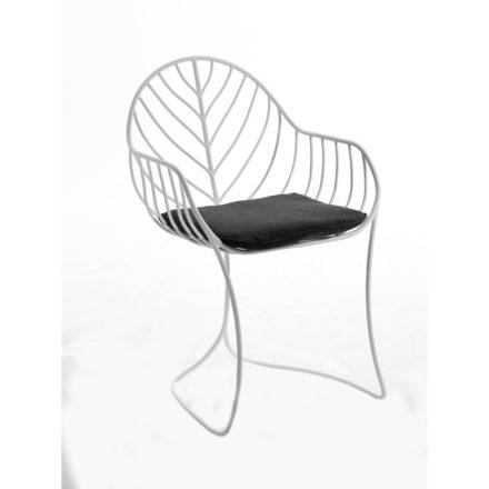 """Royal Botania """"Folia 55WR"""" Gartenstuhl, Edelstahl pulverbeschichtet weiss, hier mit Sitzkissen"""