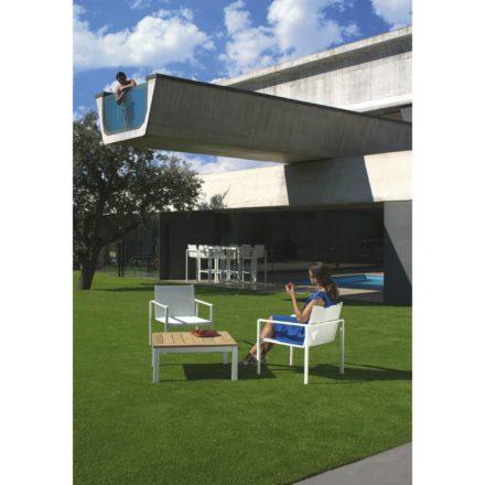 """Royal Botania Loungesessel """"Alura"""", Gestell Aluminium weiß, Sitzflächen-Bespannung Textilgewebe weiß und Loungetisch """"Taboela 80T"""""""
