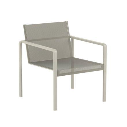 "Royal Botania Loungesessel ""Alura"", Gestell Aluminium sand, Sitzflächen-Bespannung Textilgewebe pearl grey"