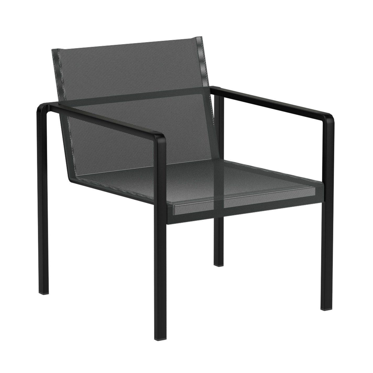 "Royal Botania Loungesessel ""Alura"", Gestell Aluminium schwarz, Sitzflächen-Bespannung Textilgewebe schwarz"