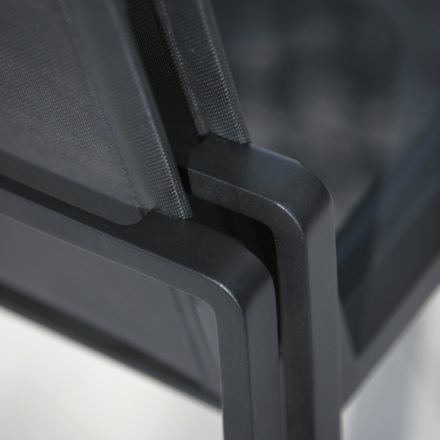 "Royal Botania Sessel ""Alura"", Gestell Aluminium schwarz, Sitzflächen-Bespannung Textilgewebe schwarz"