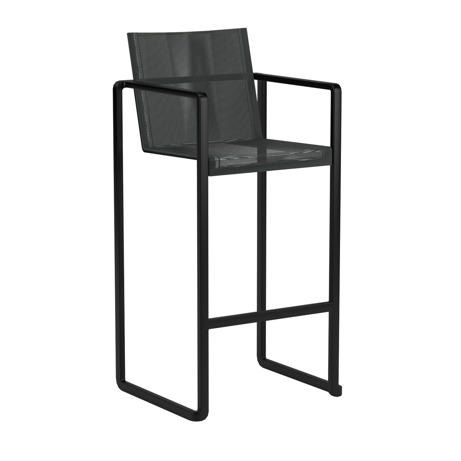 "Royal Botania Barhocker ""Alura"", Gestell Aluminium schwarz, Sitzflächen-Bespannung Textilgewebe schwarz"