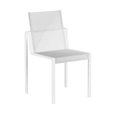 """Royal Botania Stapelsessel """"Alura"""", Gestell Aluminium weiß, Sitzflächen-Bespannung Textilgewebe weiß"""