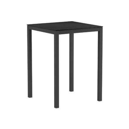 """Royal Botania Bartisch """"Taboela 80H"""", Gestell Edelstahl schwarz, Tischplatte Keramik schwarz"""