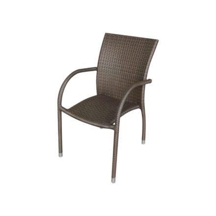 "Zebra Gartenstuhl ""Milano"", Gestell Aluminium, Polyrattangeflecht java"